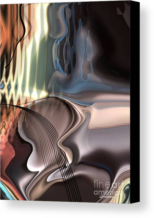 Music Canvas Print featuring the painting Guitar Sound by Christian Simonian