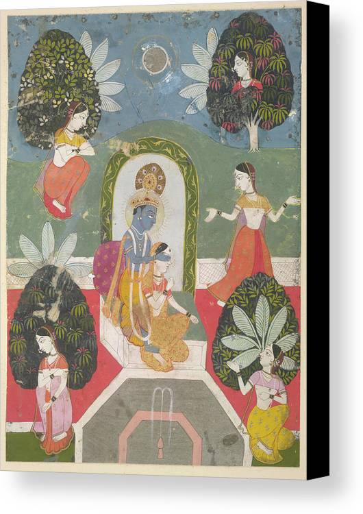 India Canvas Print featuring the photograph Hide-and-seek by British Library