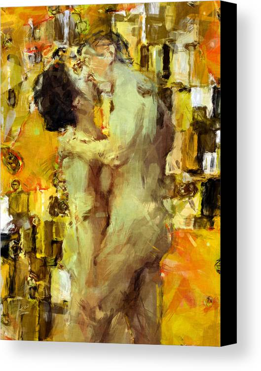 Nudes Canvas Print featuring the photograph Hold Me Tight by Kurt Van Wagner