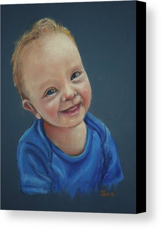 Dianne Ilka Canvas Print featuring the pastel In Memory Of Blake by Dianne Ilka