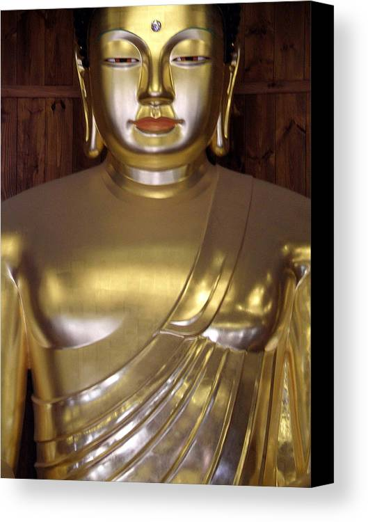 Buddha Canvas Print featuring the photograph Jogyesa Buddha by Jean Hall