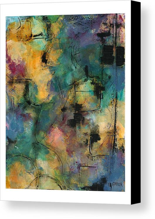 Colorful Canvas Print featuring the painting Jubilee by Dawn Faber