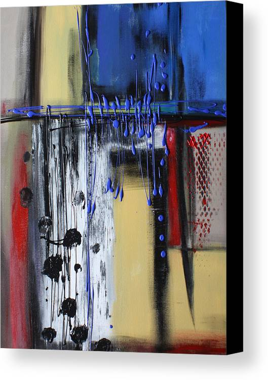 Abstract Acrylic On 1.5 Canvas Canvas Print featuring the painting Jukebox by Lisa McLean Adams