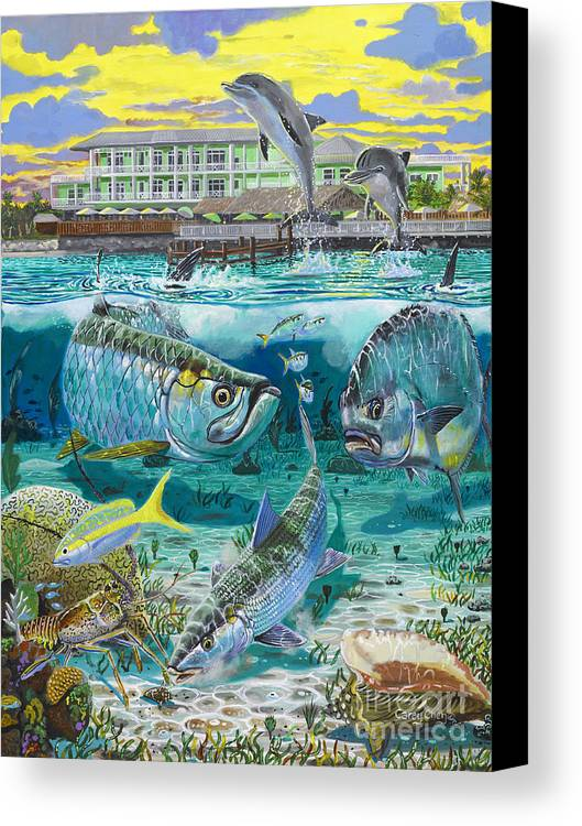 Grand Slam Canvas Print featuring the painting Key Largo Grand Slam by Carey Chen