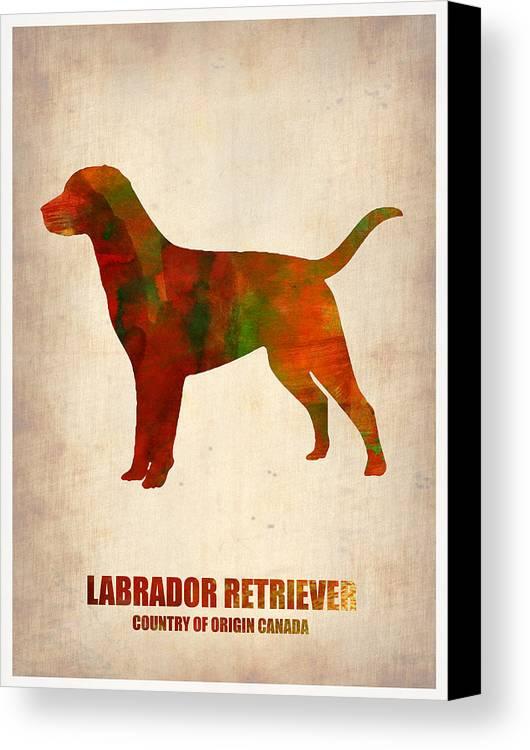 Labrador Retriever Canvas Print featuring the painting Labrador Retriever Poster by Naxart Studio