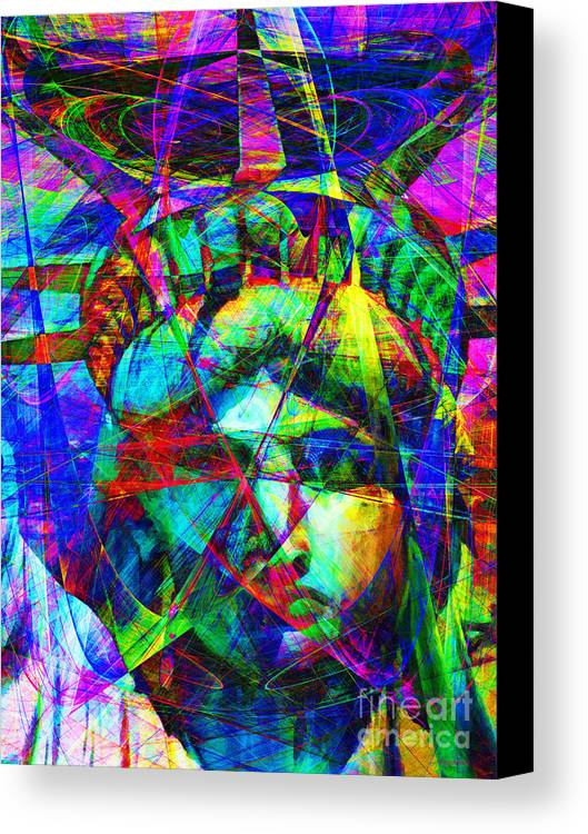 Patriotic Canvas Print featuring the photograph Liberty Head Abstract 20130618 by Wingsdomain Art and Photography