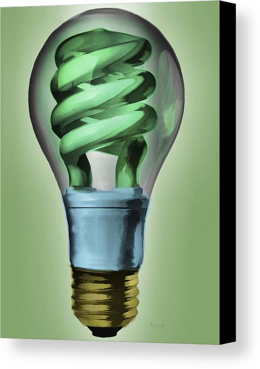 Light Canvas Print featuring the painting Light Bulb by Bob Orsillo