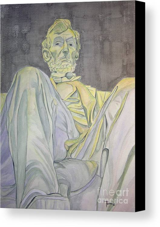 Presidents Canvas Print featuring the painting Lincoln by Regan J Smith