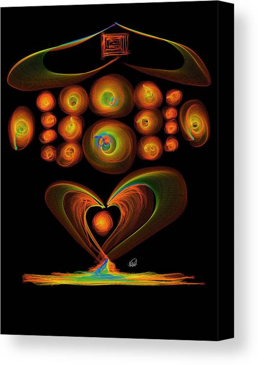 Love Canvas Print featuring the painting Love by Angela Stanton