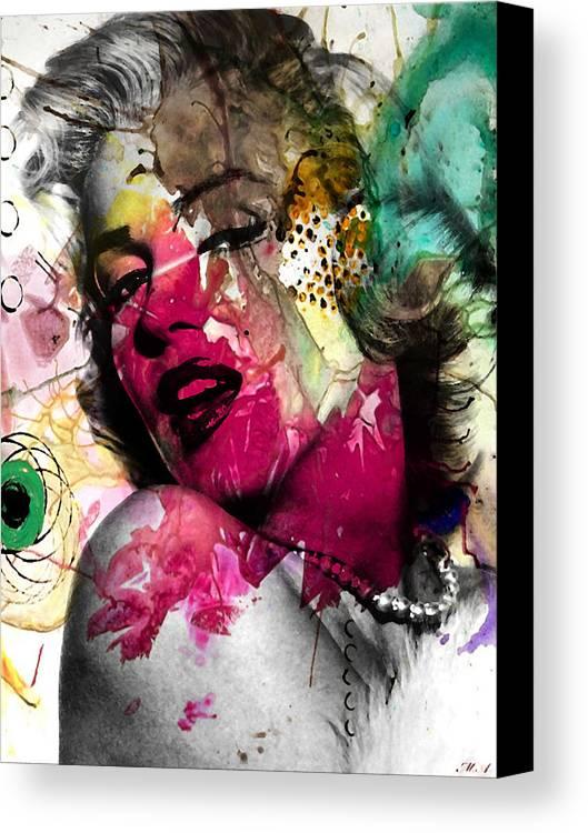 Pop Art Canvas Print featuring the photograph Marilyn Monroe by Mark Ashkenazi