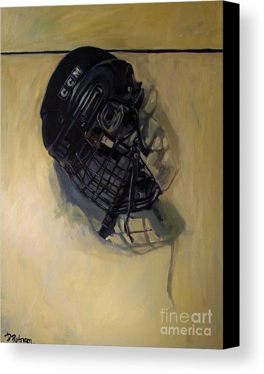 Hockey Canvas Print featuring the painting Maybe Next Year by Deb Putnam
