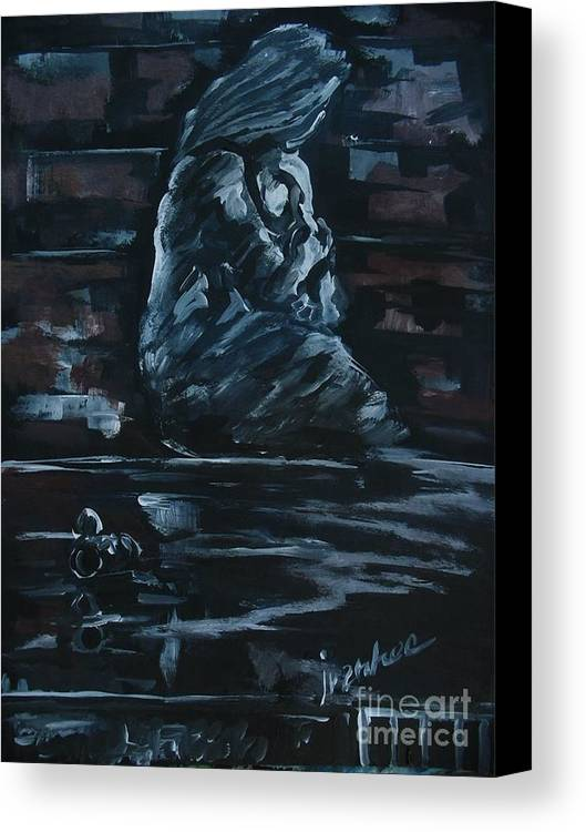 People Canvas Print featuring the painting Mother And Child by Ivanhoe Ardiente