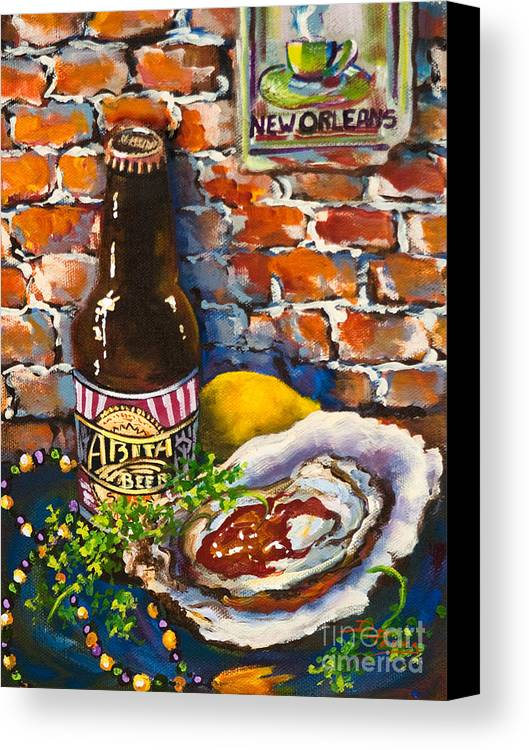 Oyster Canvas Print featuring the painting New Orleans Treats by Dianne Parks
