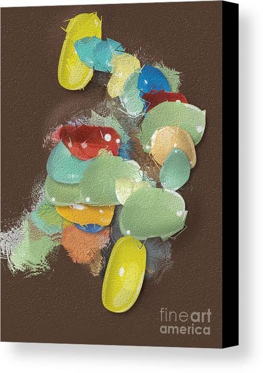 Canvas Print featuring the digital art No. 1156 by John Grieder