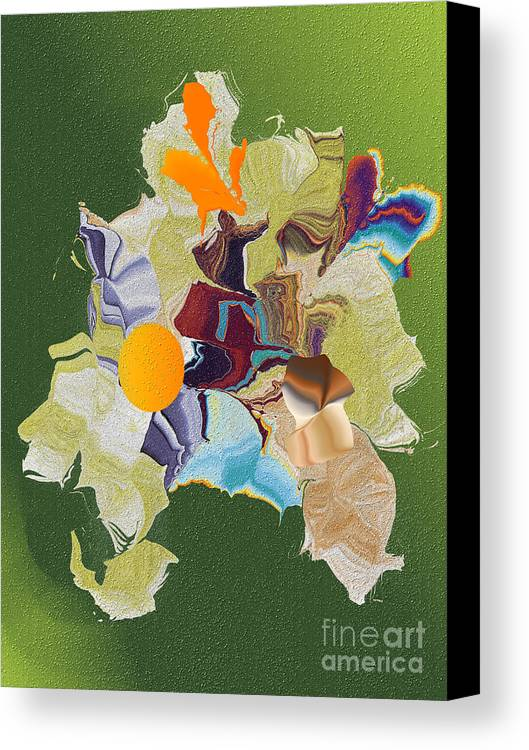 Canvas Print featuring the digital art No. 819 by John Grieder