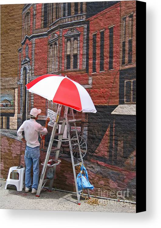 Artist Canvas Print featuring the photograph Painting The Past by Ann Horn