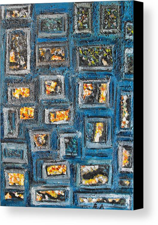Spot Canvas Print featuring the painting Patchwork by Agnes Roman