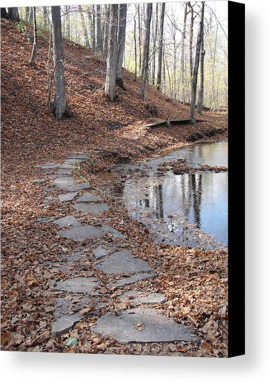 Path Canvas Print featuring the photograph Path To Somewhere by Tiffany Erdman
