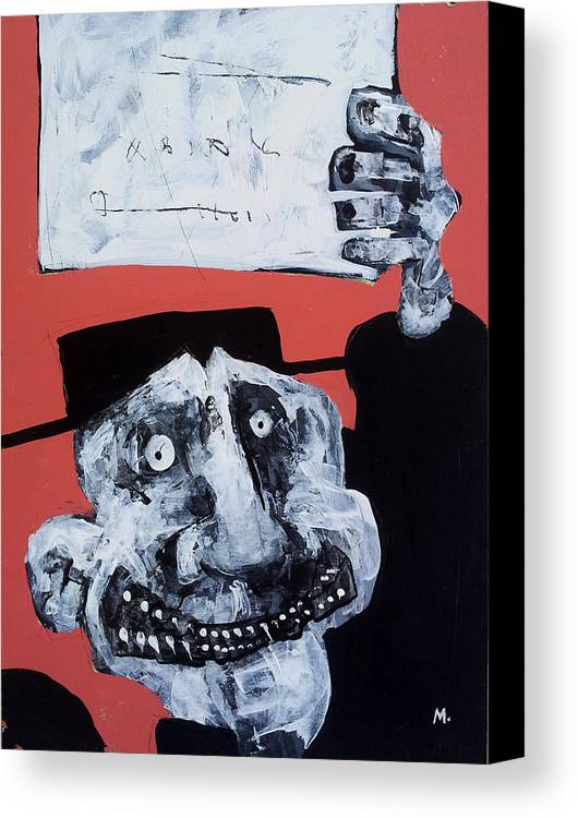 Face Canvas Print featuring the painting Protesto No. 10 by Mark M Mellon