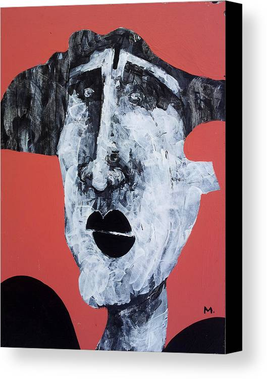 Face Canvas Print featuring the painting Protesto No. 14 by Mark M Mellon