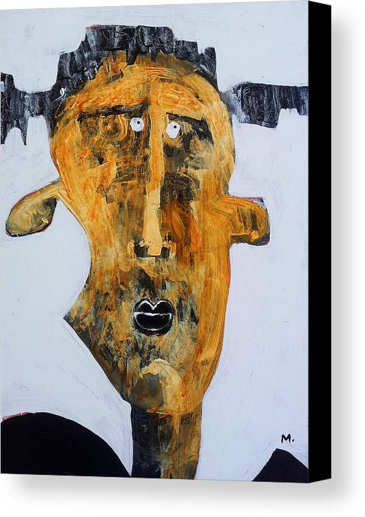 Face Canvas Print featuring the painting Protesto No. 2 by Mark M Mellon