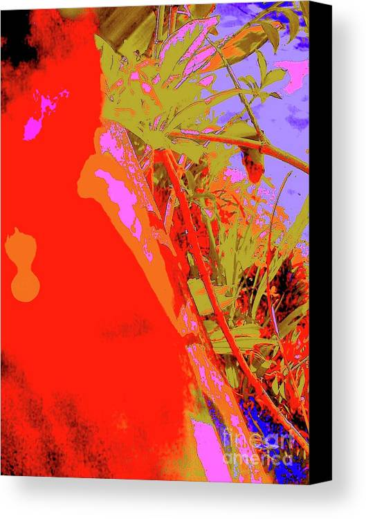 Digital Art Canvas Print featuring the digital art Red Marble 6 by Nina Kaye