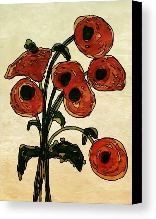 Flowers Canvas Print featuring the painting Remember by Denise Vanderhoek