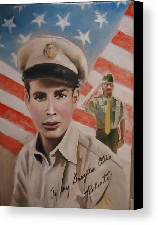 Roberto Canvas Print featuring the painting Roberto by Luz Perez