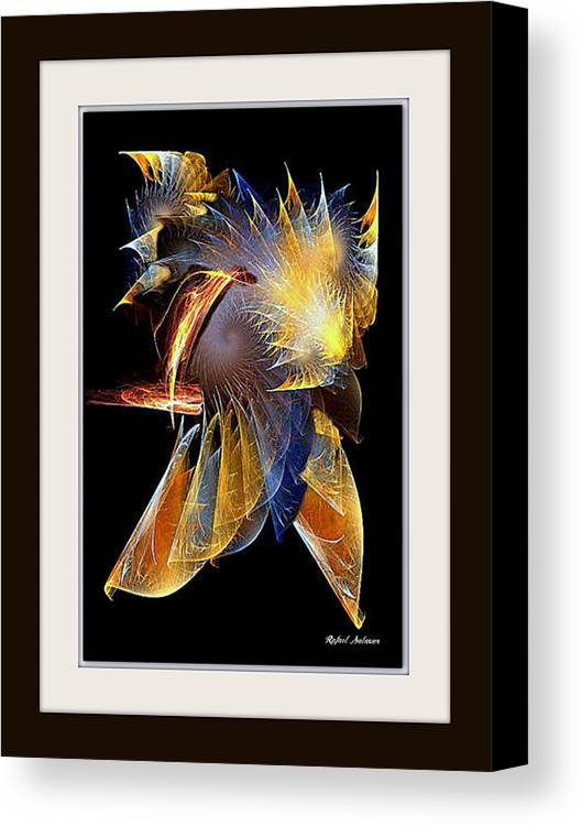 Abstract Canvas Print featuring the painting Samurai by Rafael Salazar