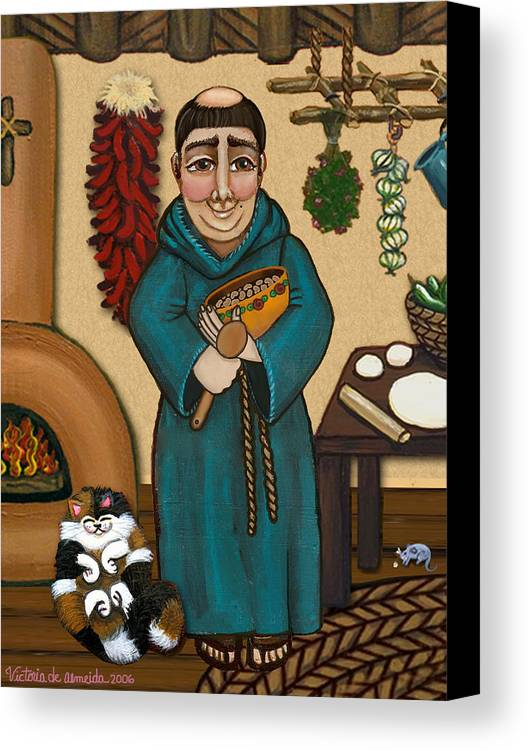 San Pascual Canvas Print featuring the painting San Pascual by Victoria De Almeida