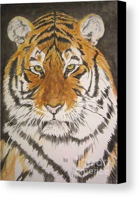Siberian Tiger Canvas Print featuring the painting Siberian Tiger by Regan J Smith