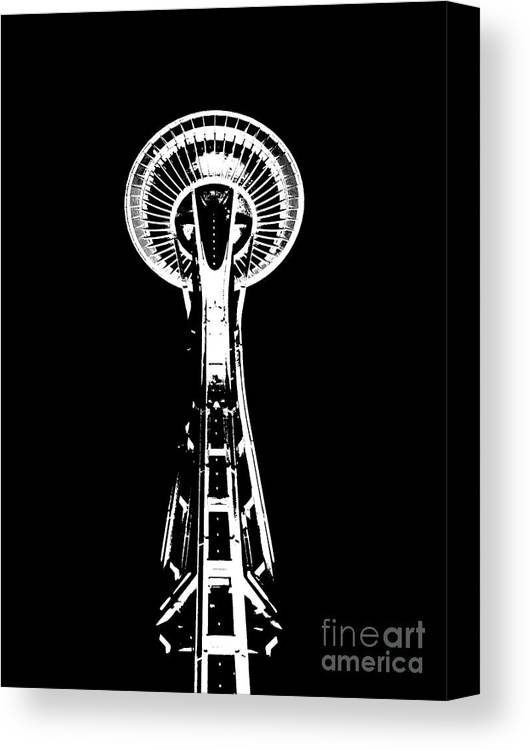 Space Needle Threshold Canvas Print featuring the photograph Space Needle Threshold by Chalet Roome-Rigdon