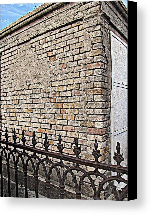 St Louis Cemetery No. 1 Canvas Print featuring the photograph St Louis Cemetery No. 1 by Beth Vincent