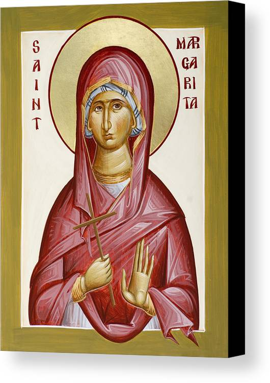 St Margarita Canvas Print featuring the painting St Margarita by Julia Bridget Hayes
