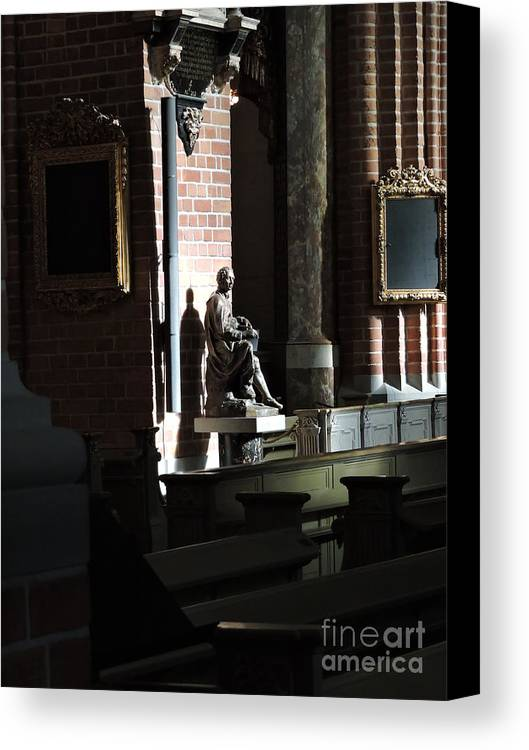 Church Canvas Print featuring the photograph Statue by Brandi Moore