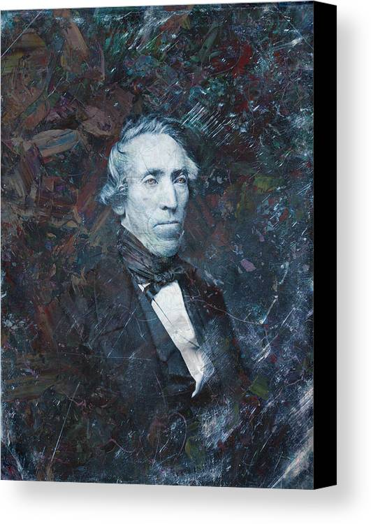 Daguerrotype Canvas Print featuring the painting Strange Fellow 1 by James W Johnson