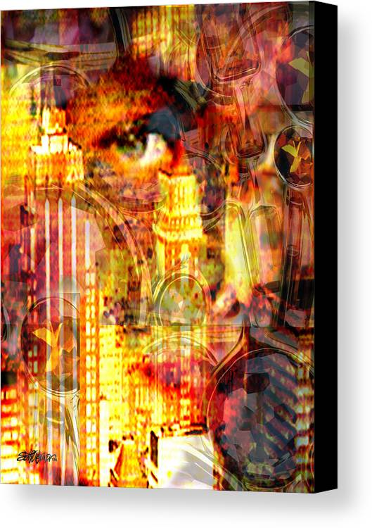 Big City Canvas Print featuring the photograph Streetwalker by Seth Weaver