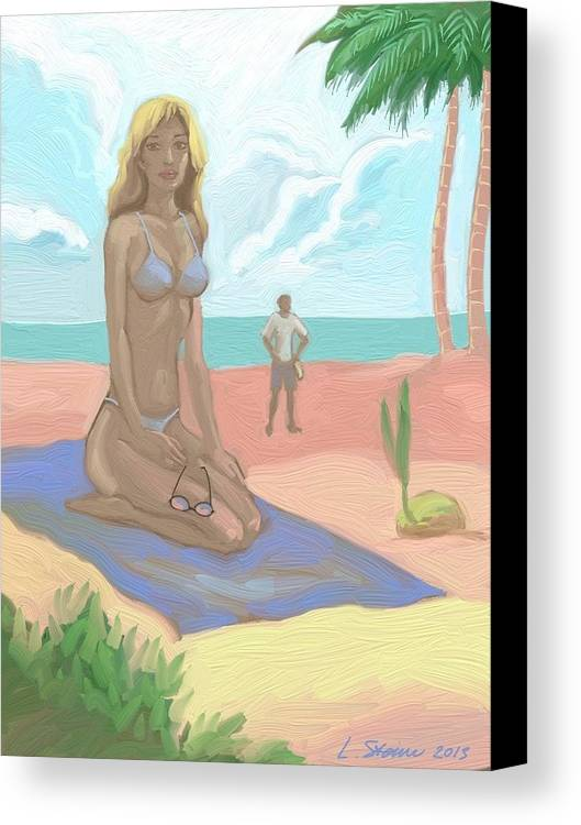 Tropical Canvas Print featuring the painting Survivors Of The Tropics by Lee Steiner