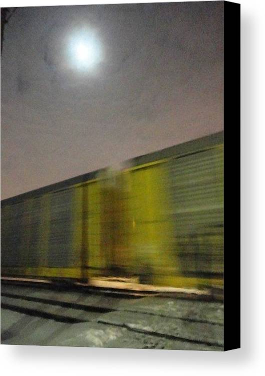 Guy Ricketts Photography Canvas Print featuring the photograph Take A Fast Train by Guy Ricketts