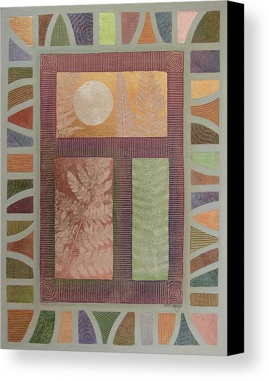 Abstract Canvas Print featuring the painting The Approach Of Winter by Jennifer Baird