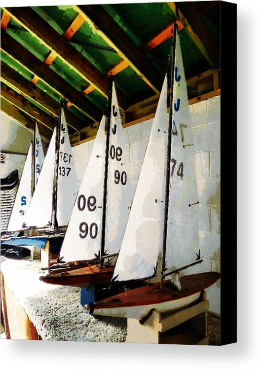 Sailing Canvas Print featuring the photograph The Boat Shed by Steve Taylor