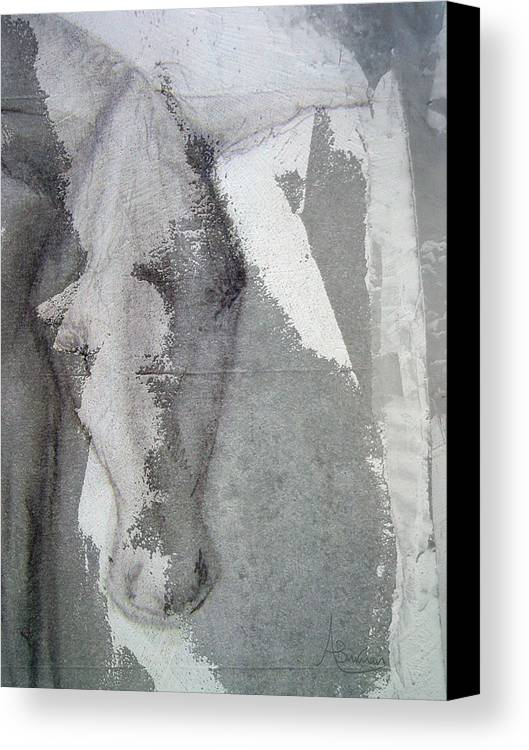 Donkey Canvas Print featuring the mixed media The Burden by Angela Burman