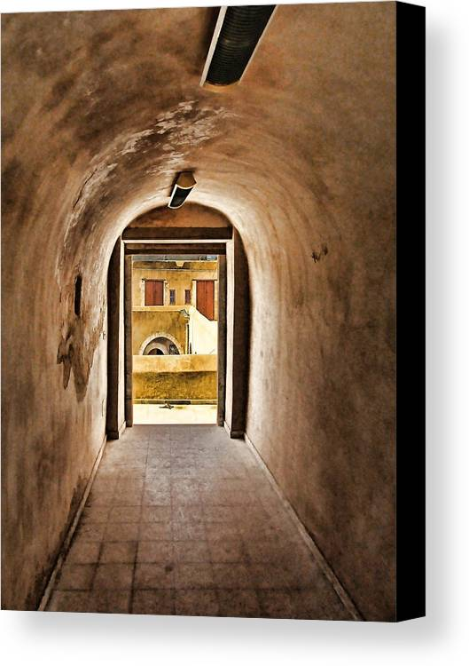 Architectur Canvas Print featuring the painting The Door 2 by Dhouib Skander