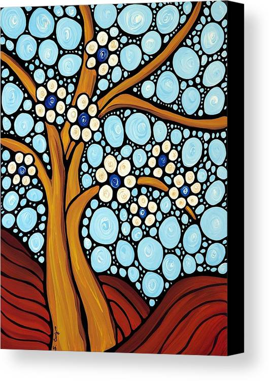 Flower Canvas Print featuring the painting The Loving Tree by Sharon Cummings