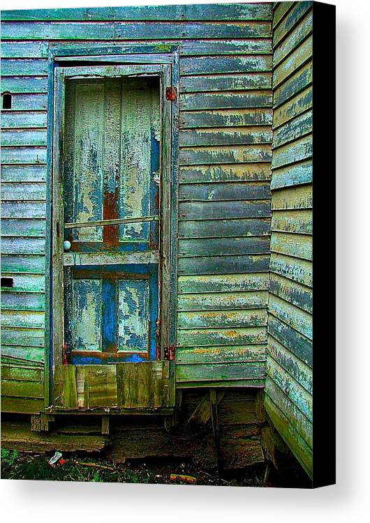 Old Doors Canvas Print featuring the photograph The Old Blue Door by Julie Dant