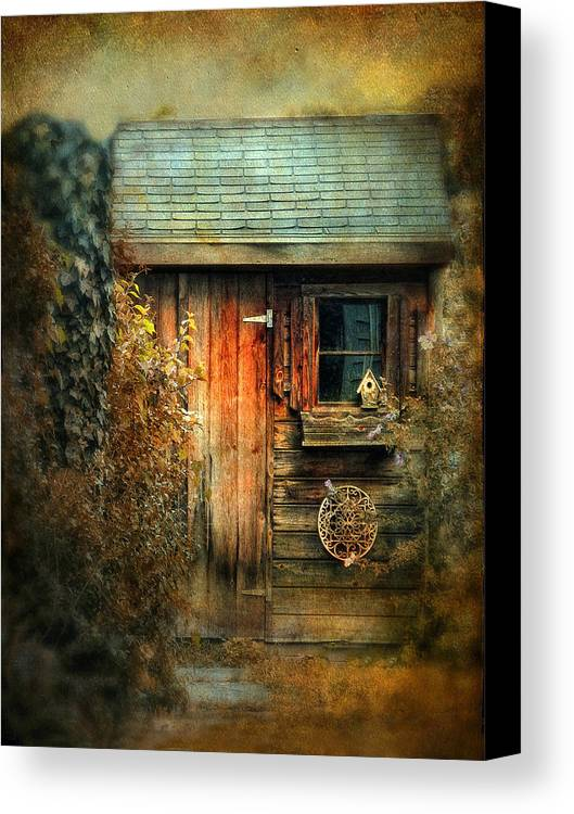 Shed Canvas Print featuring the photograph The Shed by Jessica Jenney