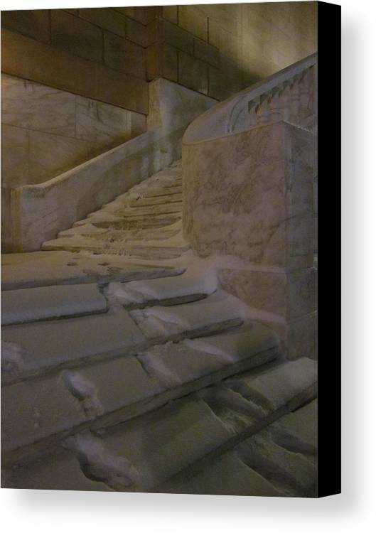 Guy Ricketts Photography Canvas Print featuring the photograph The Steps Out Of Sight by Guy Ricketts