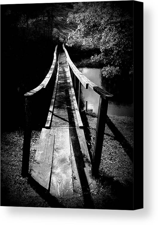 Bridge Canvas Print featuring the photograph The Walk by SW Johnson