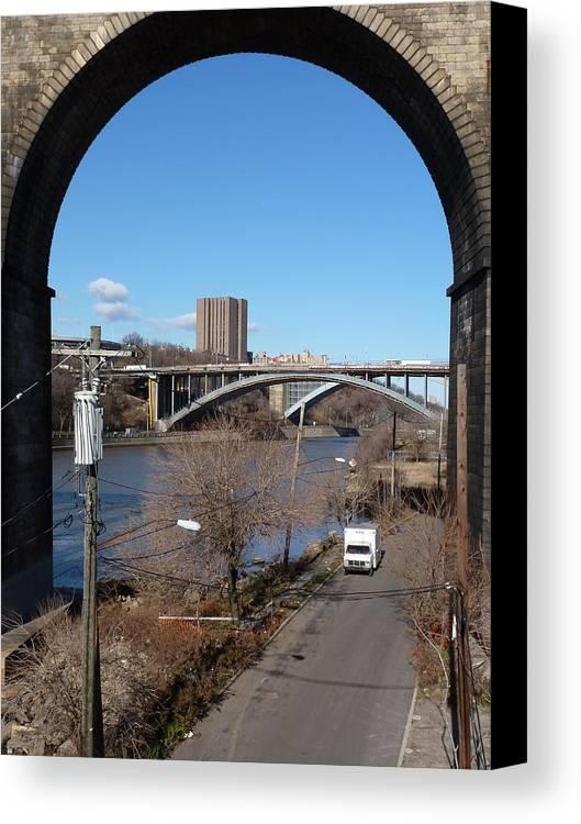 Bronx Canvas Print featuring the digital art Through The Highbridge by Steve Breslow