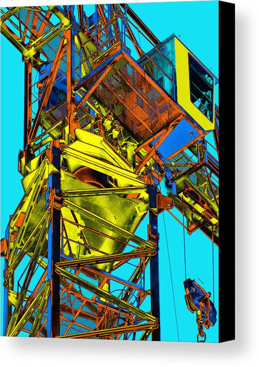 Tower Crane Canvas Print featuring the photograph Towering 5 by Wendy J St Christopher